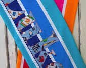 Beach Towel Personalized Lightweight Multi Colored Stripe 30 x 58 inch Beach Towels Limited Quantity Availability
