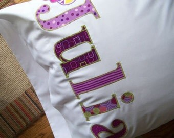 Personalized Pillowcase Gift  Name Pillow For The whole Family