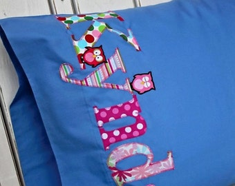 Owls Personalize this Pillowcase-Your Name Your Pillow