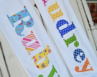 Personalized Towels Children Teens Adults - You Choose Your Letters for Your Name - Great Gift - Great Fun