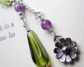 PRIMA Handmade silver flower necklace amethyst peridot flower uk jewellery