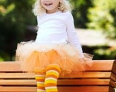 Candy Corn Tutu Halloween Costume (Tutu, Hat and Leg Warmers)