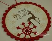 Dasher Christmas Gift Card Holder Tag
