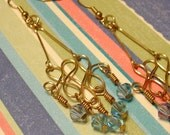 Silver Ocean Swirl Earrings for MSJUDI