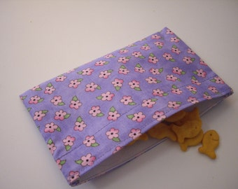 Reusable Snack Bag - Pink and Purple