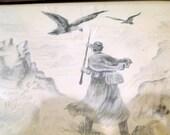 Civil War 1911 Soldier Returns Home Art 1911 Reed Williams Sale