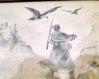 Civil War 1911 Soldier Returns Home Art 1911 Reed Williams