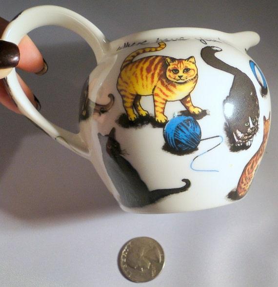 Paul Cardew Classic Range Designs Kit Tea Pitcher Pussy Cats Kittens 2000 England
