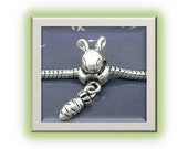 Bunny Rabbit with Carrot Charm - Fits European Style Bracelets