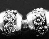 Barrel Flower Bead - Fits European Style Bracelets