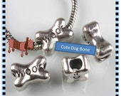 WOOF - Cute Dog Bone Charm