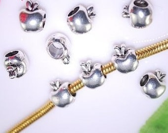 Apple Charm - Fits European Style Bracelets