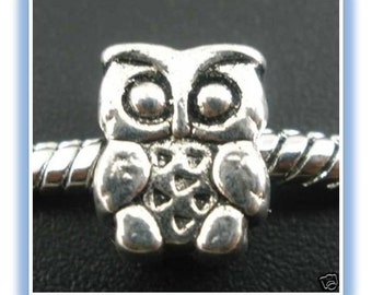 Owl Bead - Fits European Style Bracelets