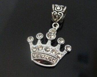 Queen - Princess Crown Charm - Fits European Style Bracelets