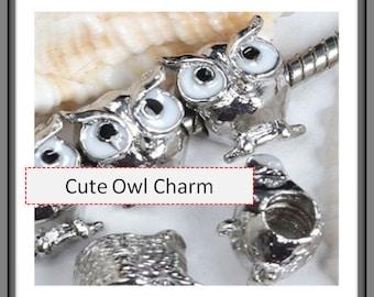 Owl Charm - Fits European Style Bracelets