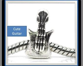 Guitar Bead - Fits European Style Bracelets