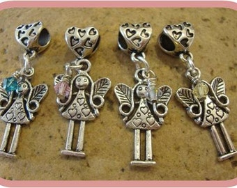 Cute Little Fairy Charm - Fits European Style Bracelets