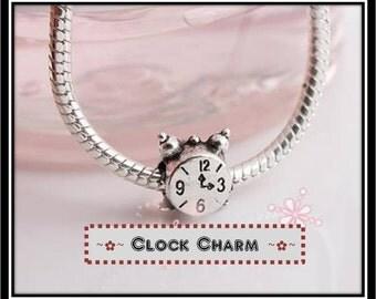 Cute Clock Spacer Bead - European Style