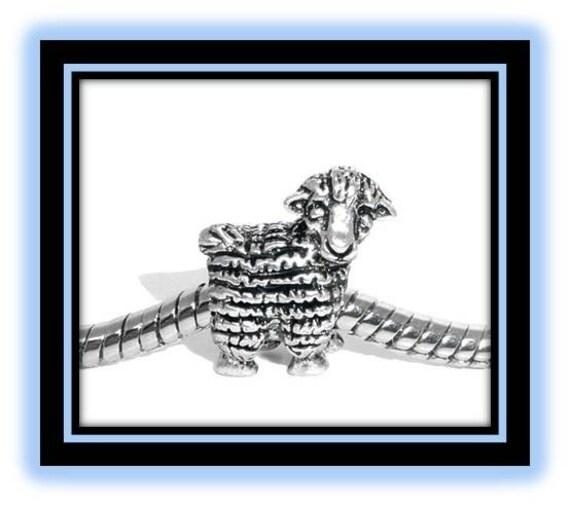 Little Lamb Bead - Fits European Style Bracelets
