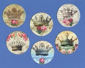 Stickers, French Style, Crowns & Roses,  Sticker Seals