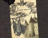 Halloween Tags French Style La Chauve-souris Set of 6