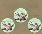Stickers, Bird Stickers, Bird & Flowers, Sticker Seals