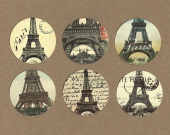 Stickers, French Style, Eiffel Tower, Sticker Seals
