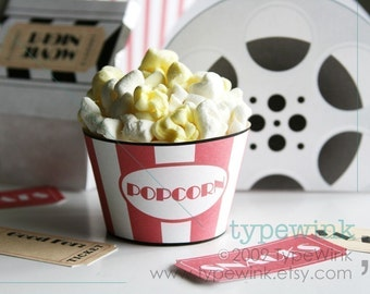 Movie Night Party Pack - Printable Download PDF Party - Photo invitation
