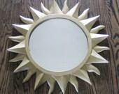 Vintage Sunburst Mirror - Very Hollywood Regency