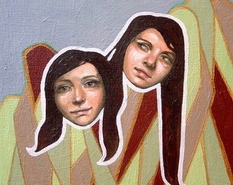 Oil Painting - Natalie and Elyse
