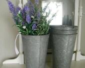 1 pair Metal buckets wedding decor galvanized buckets shabby chic sap buckets rustic decor garden wedding