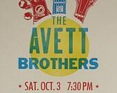 The Avett Brothers - Letterpress Poster