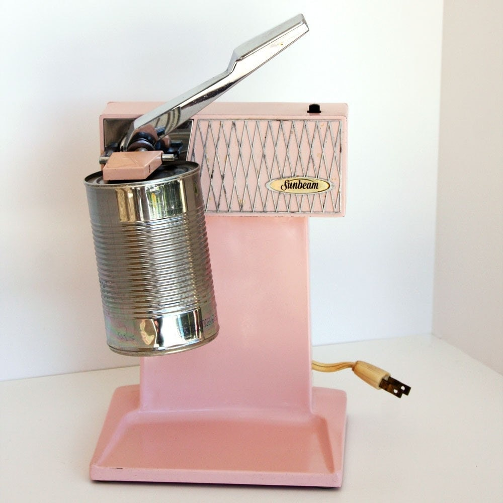 Retro Vintage Pink Sunbeam Electric Can Opener