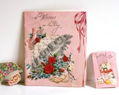 Vintage 1950s Greeting Cards Lot of three Mother's day