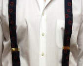 Vintage Perry Ellis Silk Suspenders treasury item