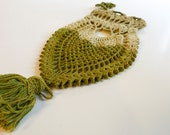 Vintage Green Crocheted Onion Pouch