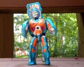 Vintage 1980s Gobots Rock Lord He Man toy figurine