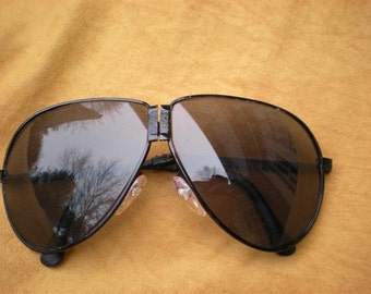 Vintage 1980s Aviator Fold-Up Sunglasses
