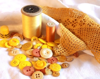 Antique Sewing Supplies and  Buttons