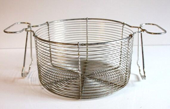 Vintage Chefs Wire Basket