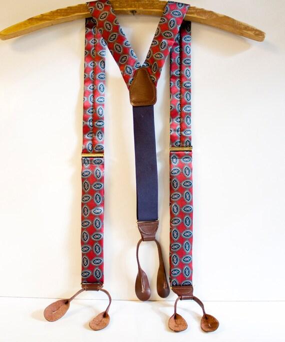 Vintage Red CAS Suspenders