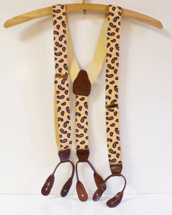 Vintage Mens Suspenders: CAS Paisley