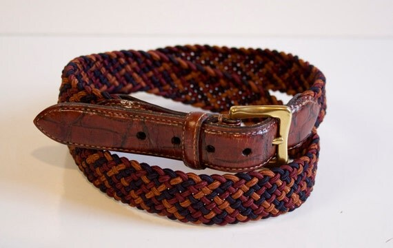 Vintage Mens Braided belt by Martin Dingman