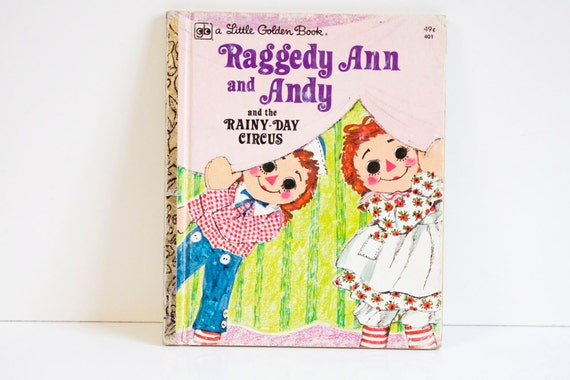 1976 Little Golden Book Raggedy Ann and the Cookie Snatcher for Childrens Reading, Scrapbooking, Collages, Art Projects