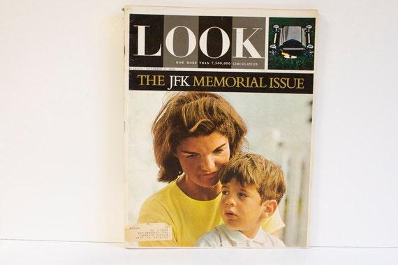 Vintage 1964 Look JKF Memorial Issue Magazine