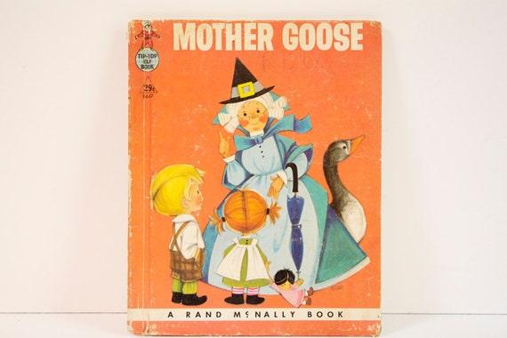 Vintage 1958 Mother Goose Elf Book