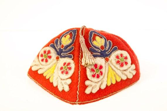 Vintage Red handmade Hat