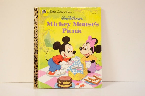 Vintage Little Golden Book Mickey Mouses Picnic
