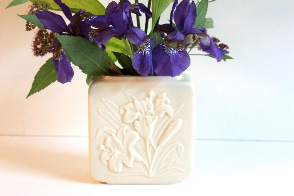 Vintage Ivory Vase Lenox Tiger Lily