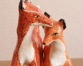 RESERVED- Foxes in love- Made to Order